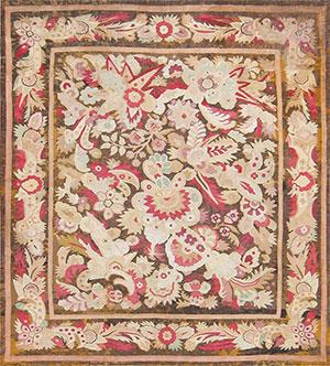 Antique Large Scale Design French Aubusson Carpet 47526 Nazmiyal