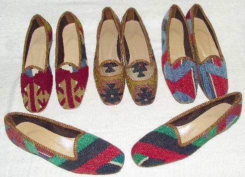 Vintage Kilim Rug Shoe Fashion - Nazmiyal