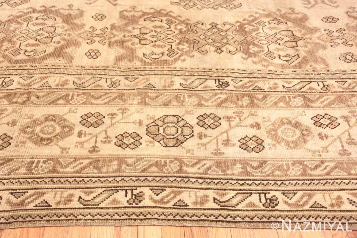 Border Large Square Antique Turkish Oushak carpet 45112 by Nazmiyal