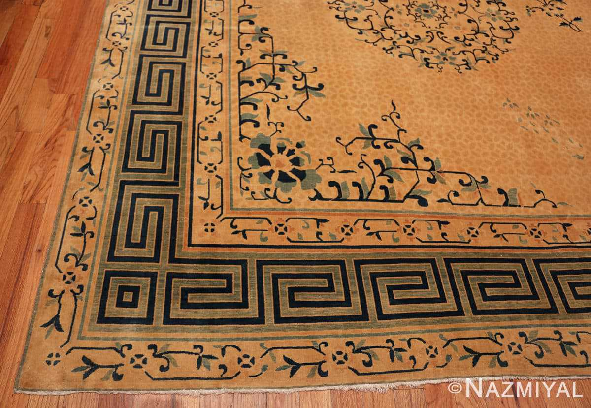 Corner Background detail Antique Chinese rug 44469 by Nazmiyal