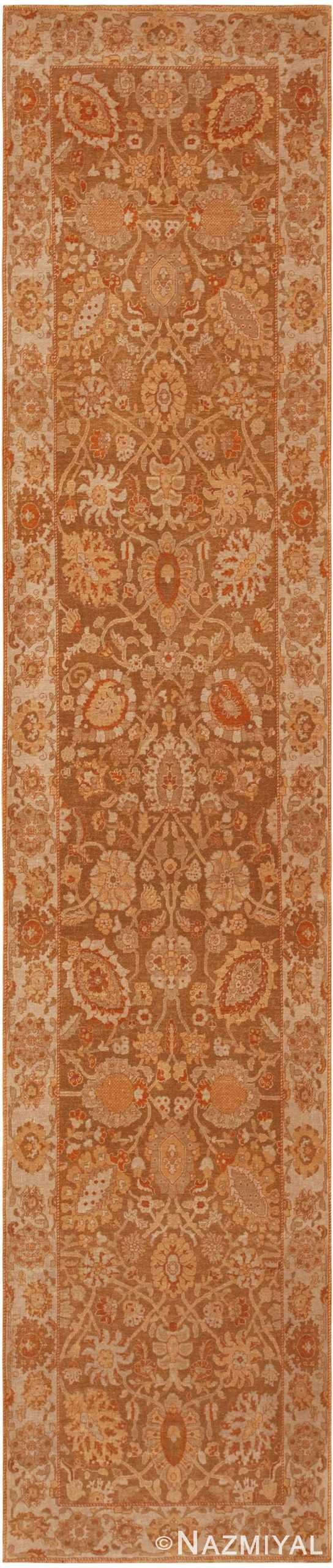 Modern Contemporary Persian Tabriz Runner Rug 41232 Nazmiyal