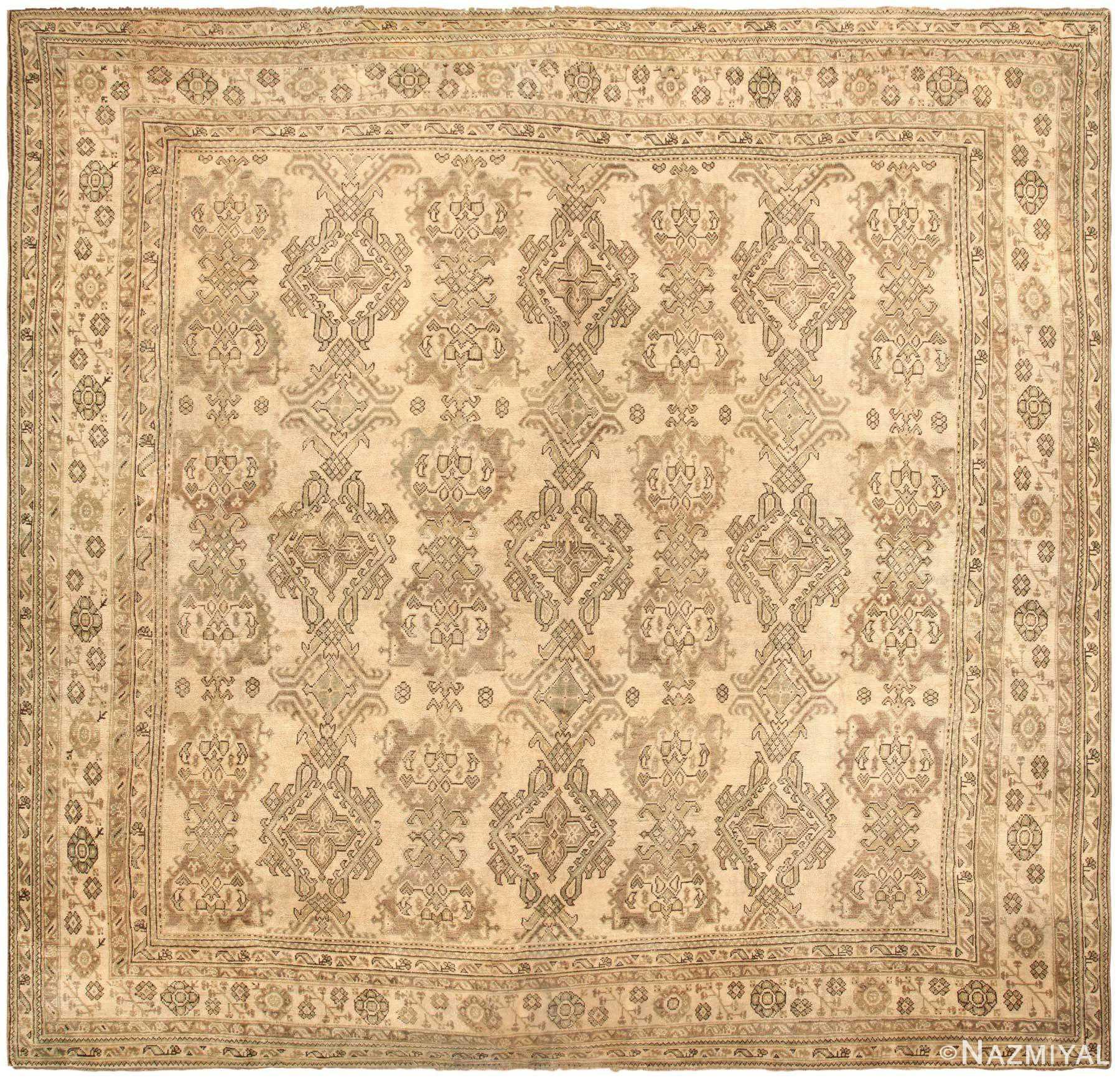 Antique Turkish Oushak 45112 Detail/Large View