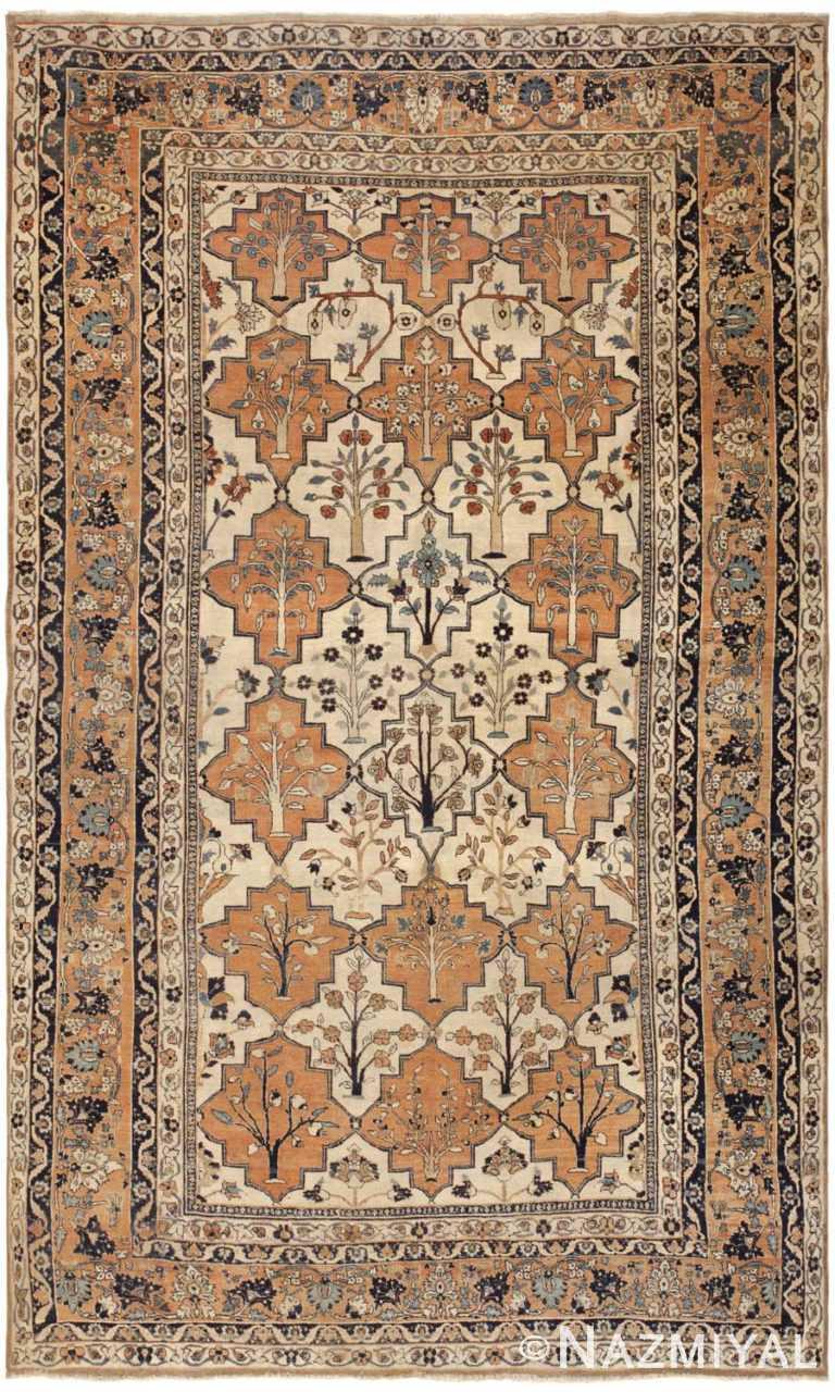 Antique Persian Tabriz Rug 46179 Detail/Large View