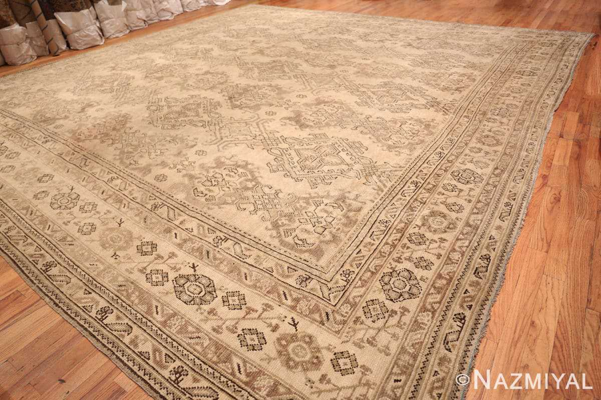 Full Large Square Antique Turkish Oushak carpet 45112 by Nazmiyal