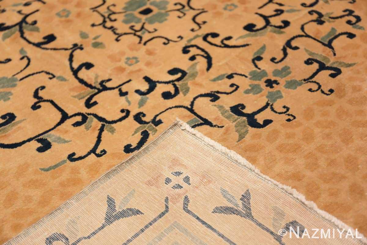 Weave Background detail Antique Chinese rug 44469 by Nazmiyal