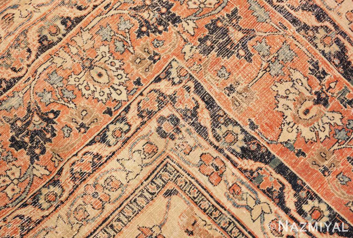 Weave detail Antique Persian Tabriz rug 46179 by Nazmiyal