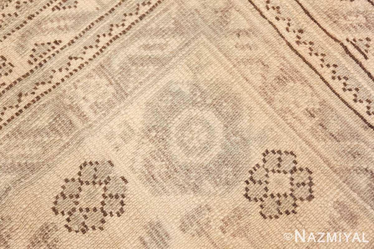 Weave detail Large Square Antique Turkish Oushak carpet 45112 by Nazmiyal