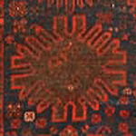 Example of a Gol symbol in an antique rug.