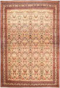 Antique Oversized Persian Kerman Rug 46402 Large Image