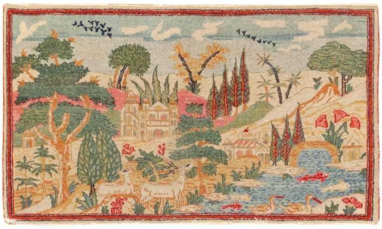 Antique Persian Kashan Rug 46405 Large Image