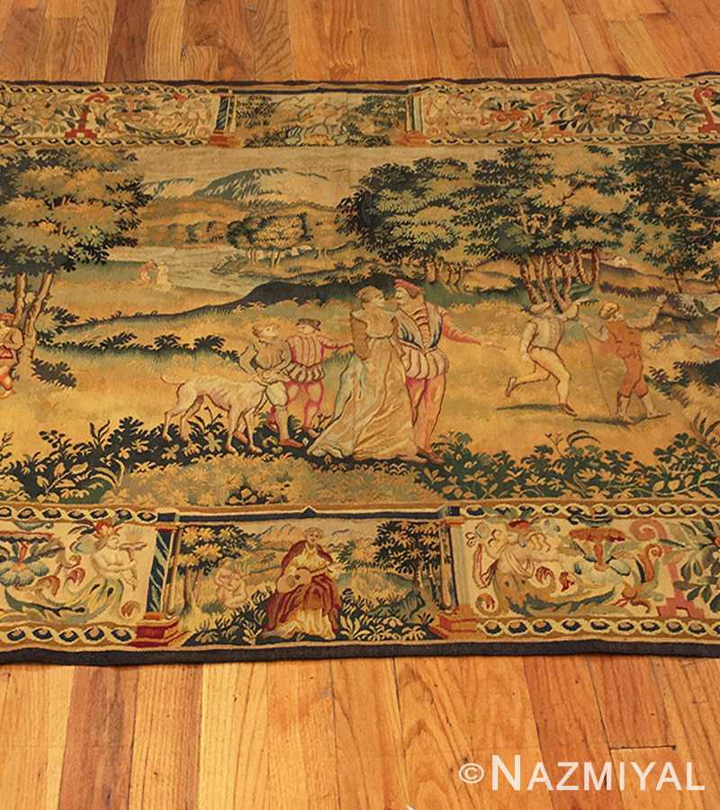 Flemish Tapestry Antique Belgium Tapestry 46403 Nazmiyal