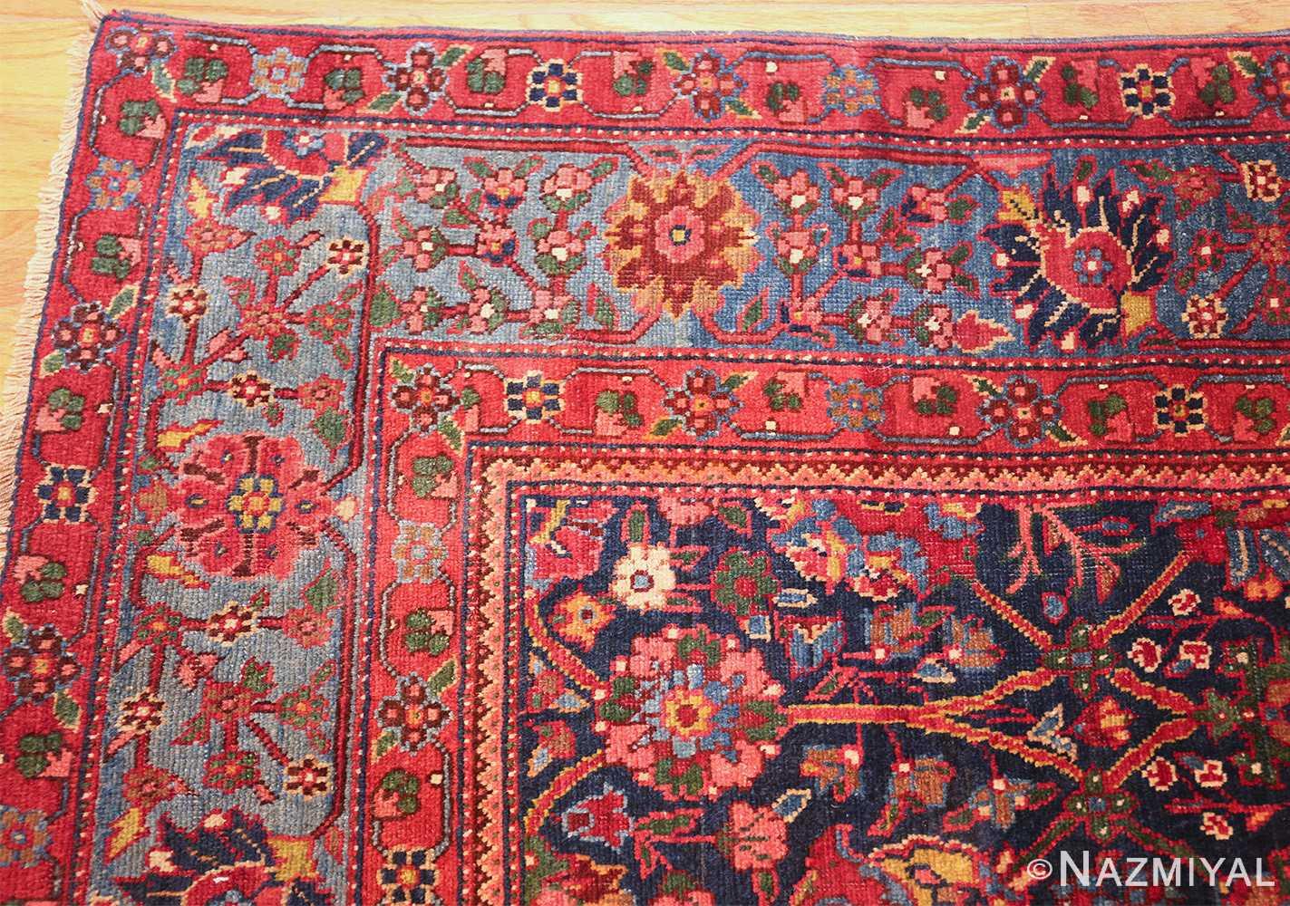 antique kurdish bidjar rug 46363 corner Nazmiyal