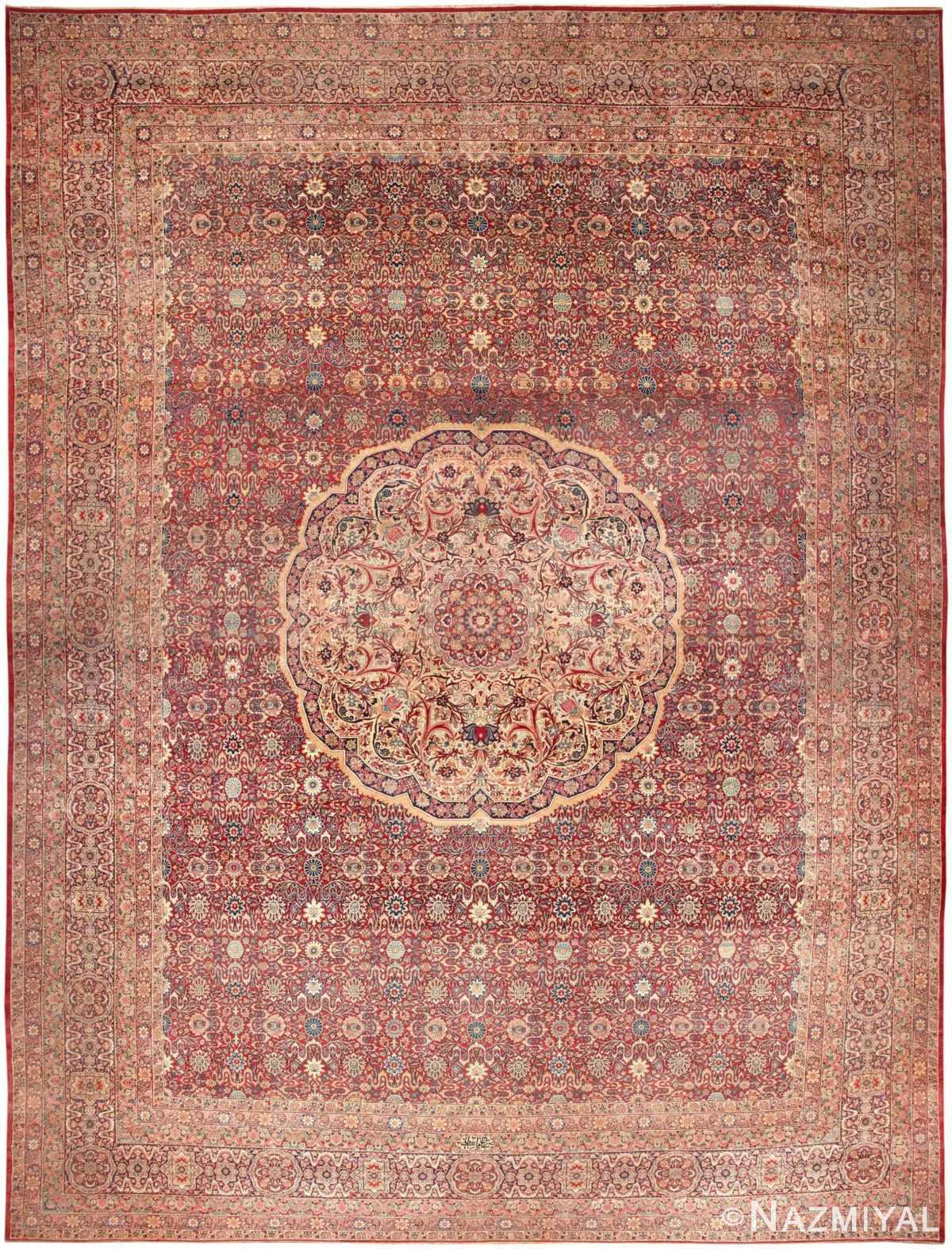 antique persian kerman rug 46400 Nazmiyal