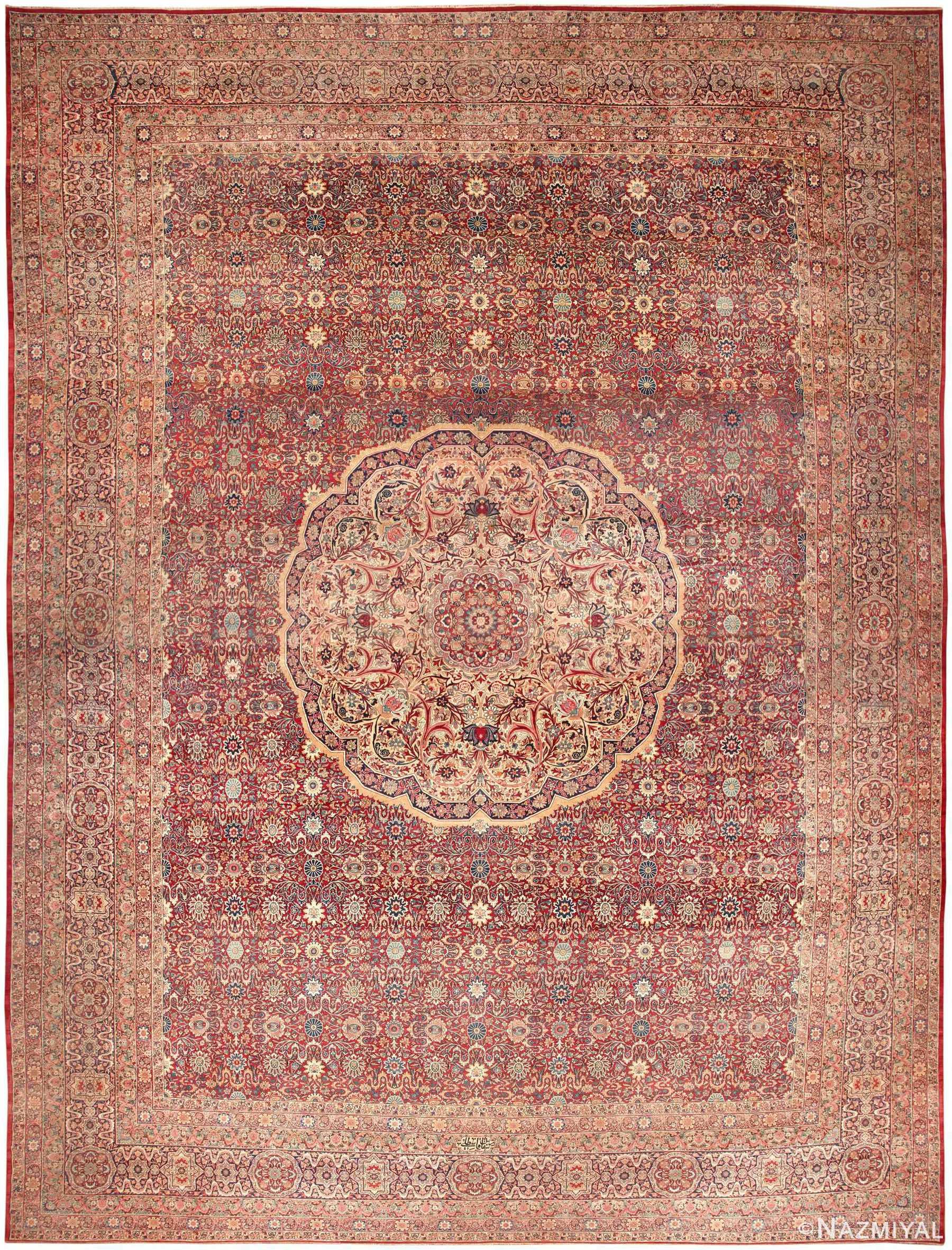 Kerman Rug Antique Persian Carpet 46400 By Nazmiyal