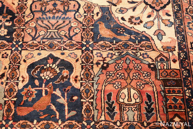antique persian khorassan rug 46362 birds Nazmiyal
