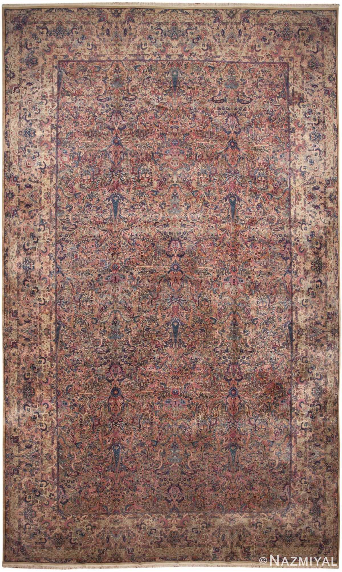 Antique Persian Kerman Rug 46399 Detail/Large View