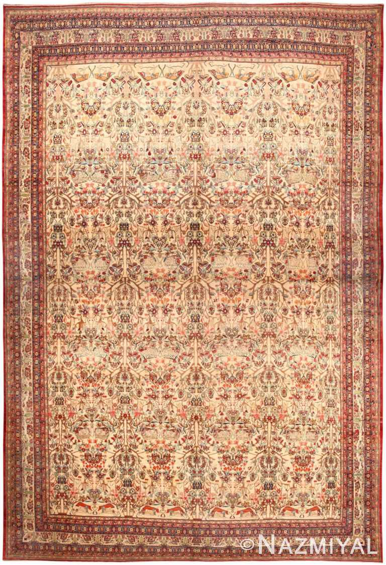 Oversized Antique Persian Kerman Lavar Rug 46402 Nazmiyal Antique Rugs