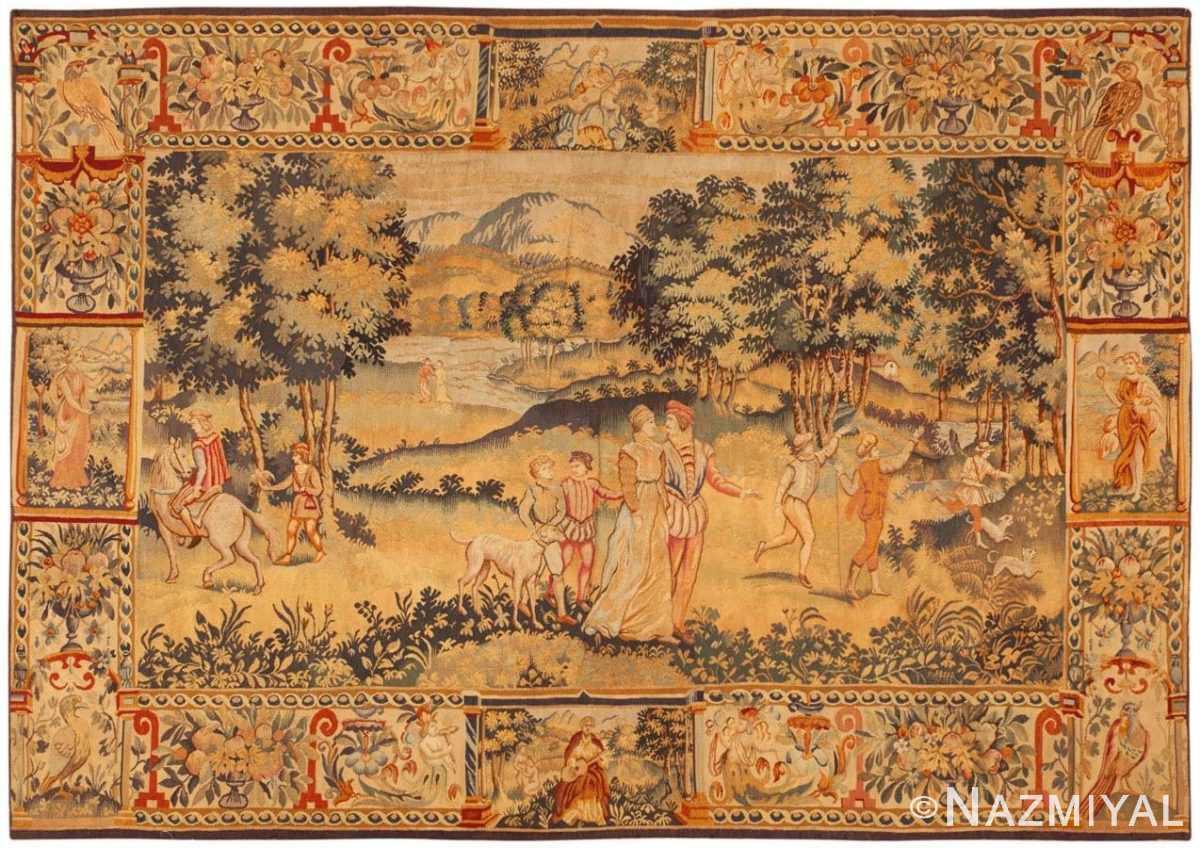 Flemish Tapestry Antique Belgium Carpet 46403 By Nazmiyal