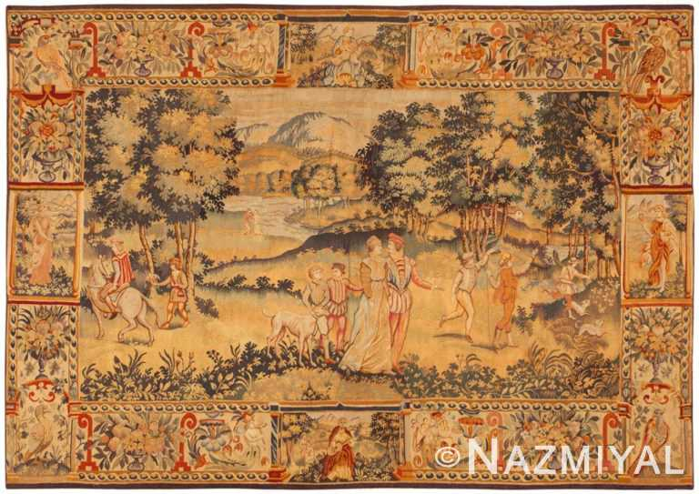 Antique Belgium Tapestry Rug 46403 Large Image