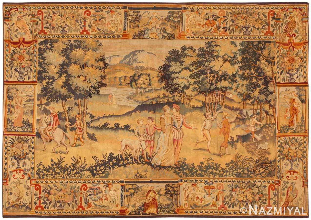 Antique Belgium Tapestry Rug 46403 Large Image
