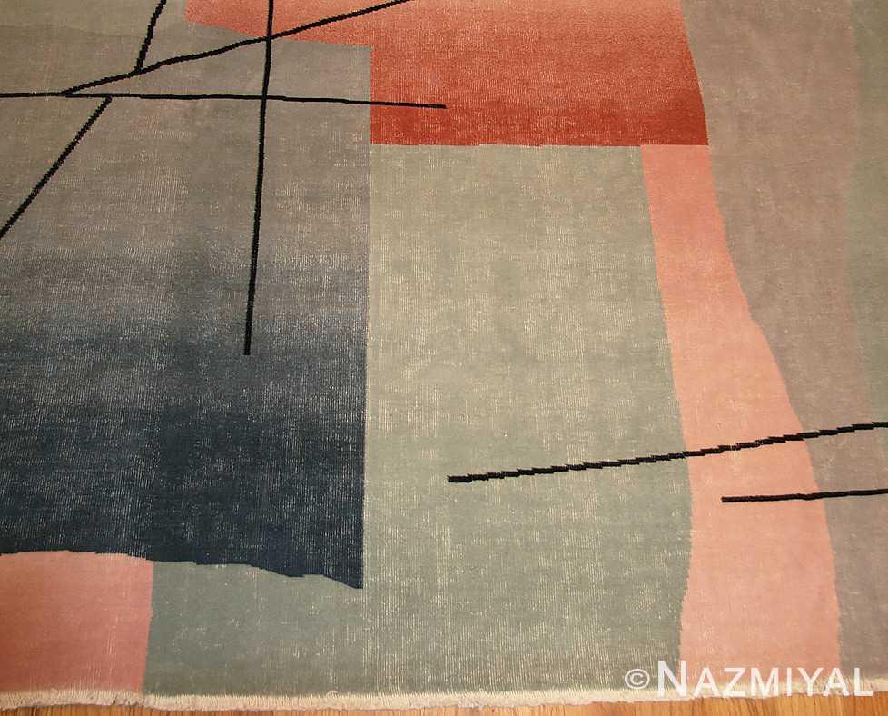 vintage chinese deco rug 46252 field Nazmiyal