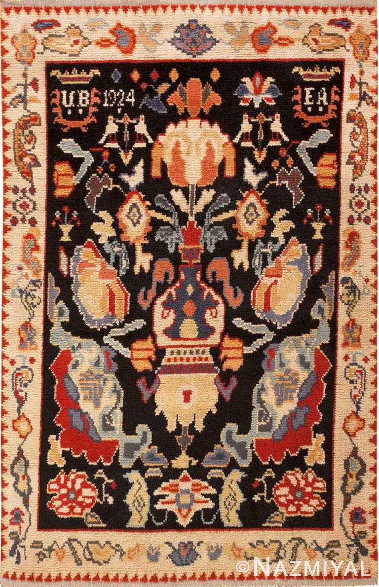 Vintage Swedish Rya Rug #46359 by Nazmiyal Antique Rugs