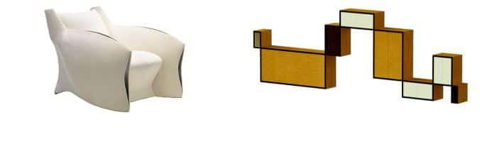 Club Chair, Shelf by Pitt-Pollaro