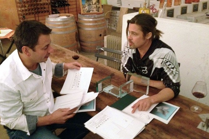 Brad Pitt and Pollaro as pictured in Architectual Digest