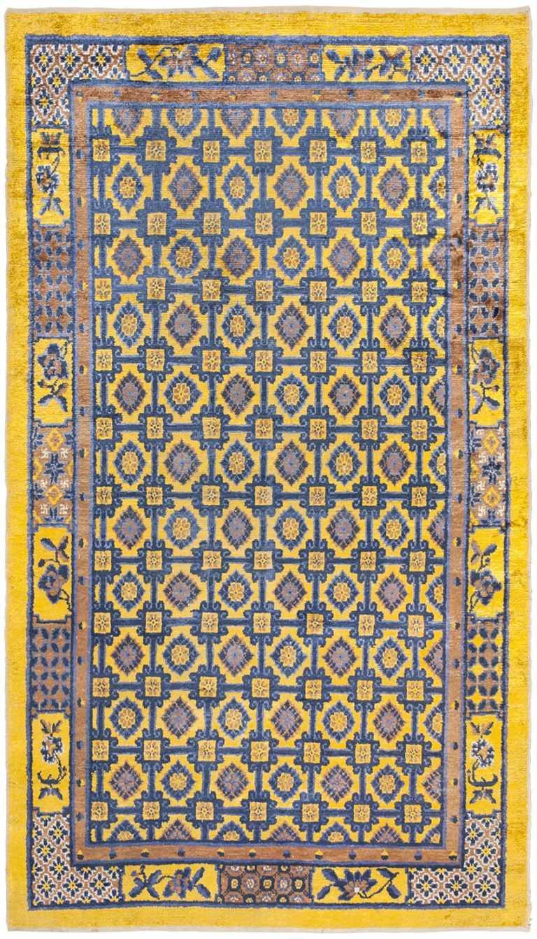 Antique Silk Khotan Rug 46229 Large Image