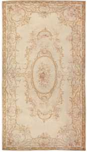 Antique French Aubusson Carpet 46451 Detail/Large View