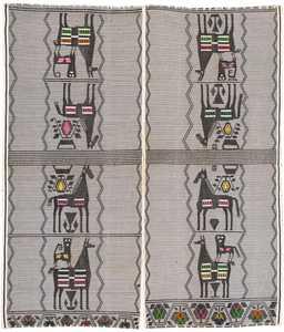 Vintage Peruvian Textile Art 46456 Large Image