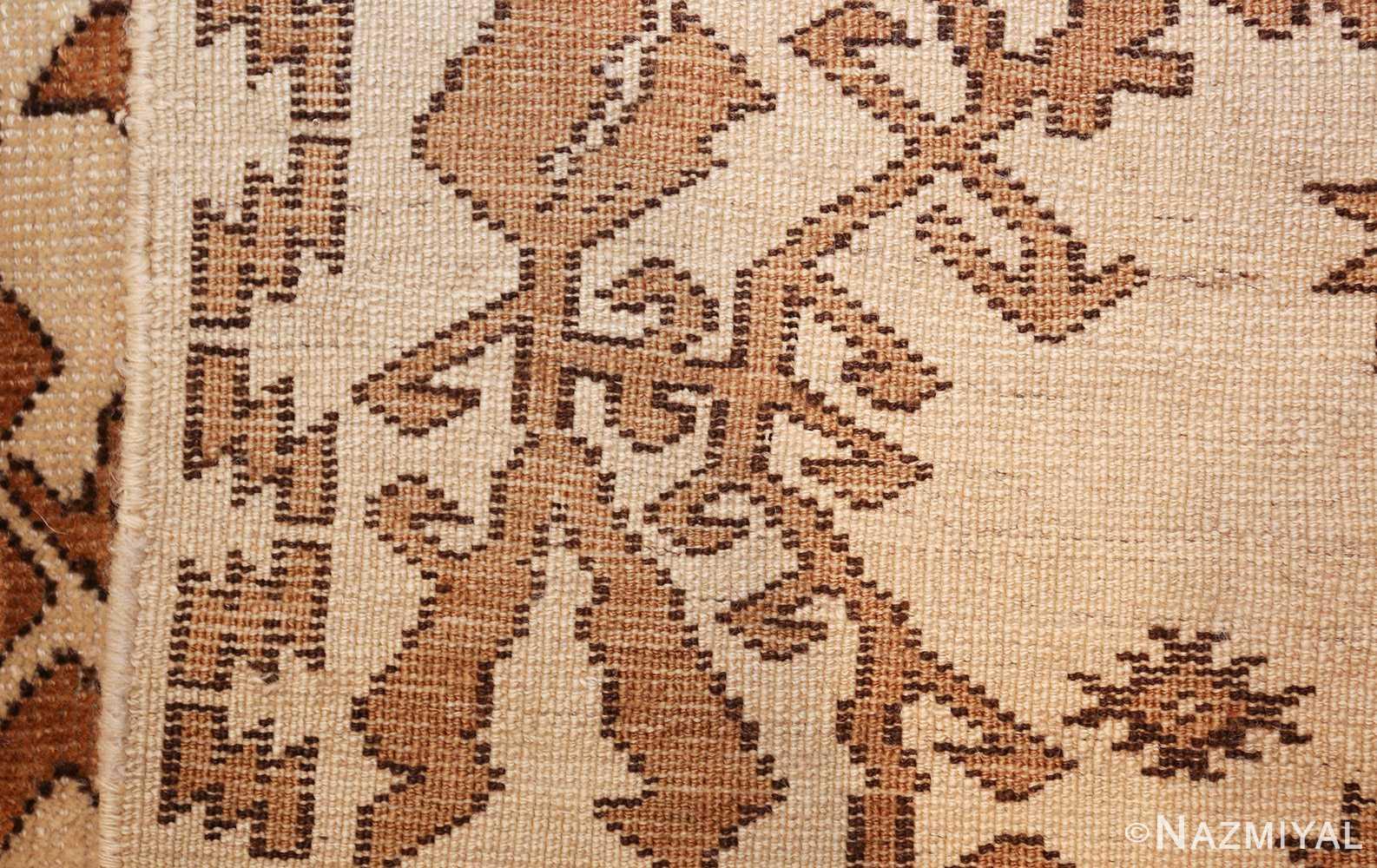 antique afghan rug 46228 weave Nazmiyal