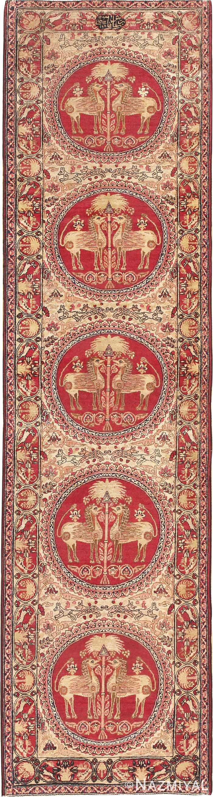 Antique Persian Kerman Runner Rug #45802 by Nazmiyal Antique Rugs