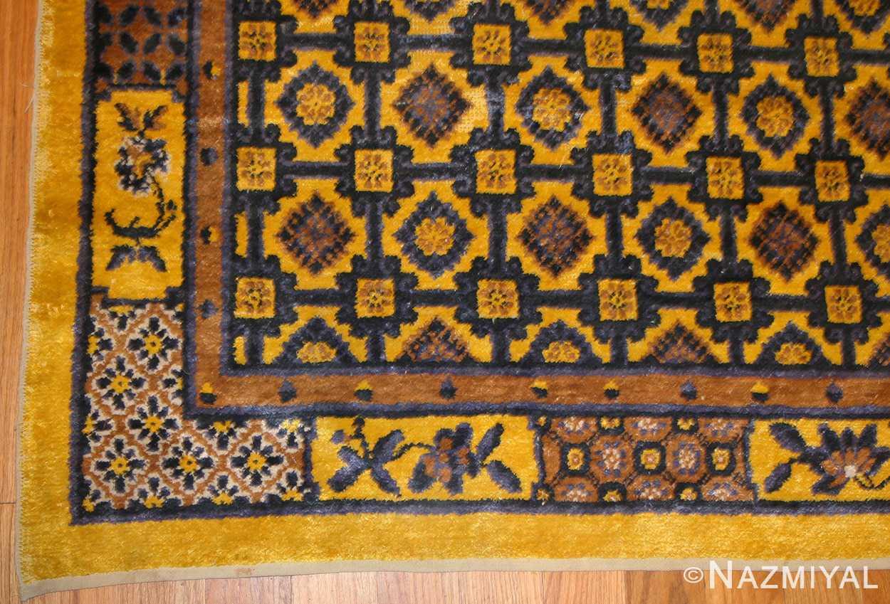 antique silk chinese rug 46229 border Nazmiyal