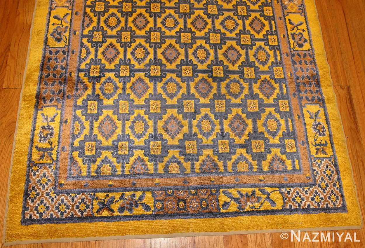 antique silk chinese rug 46229 design Nazmiyal