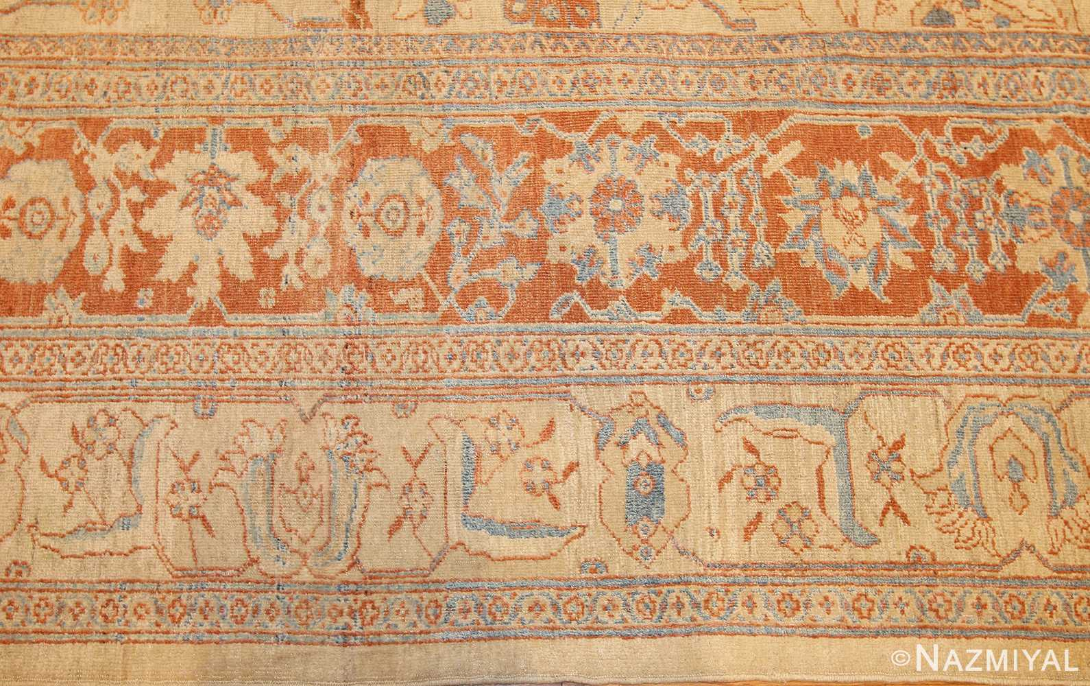 antique ziegler sultanabad rug 46452 border Nazmiyal