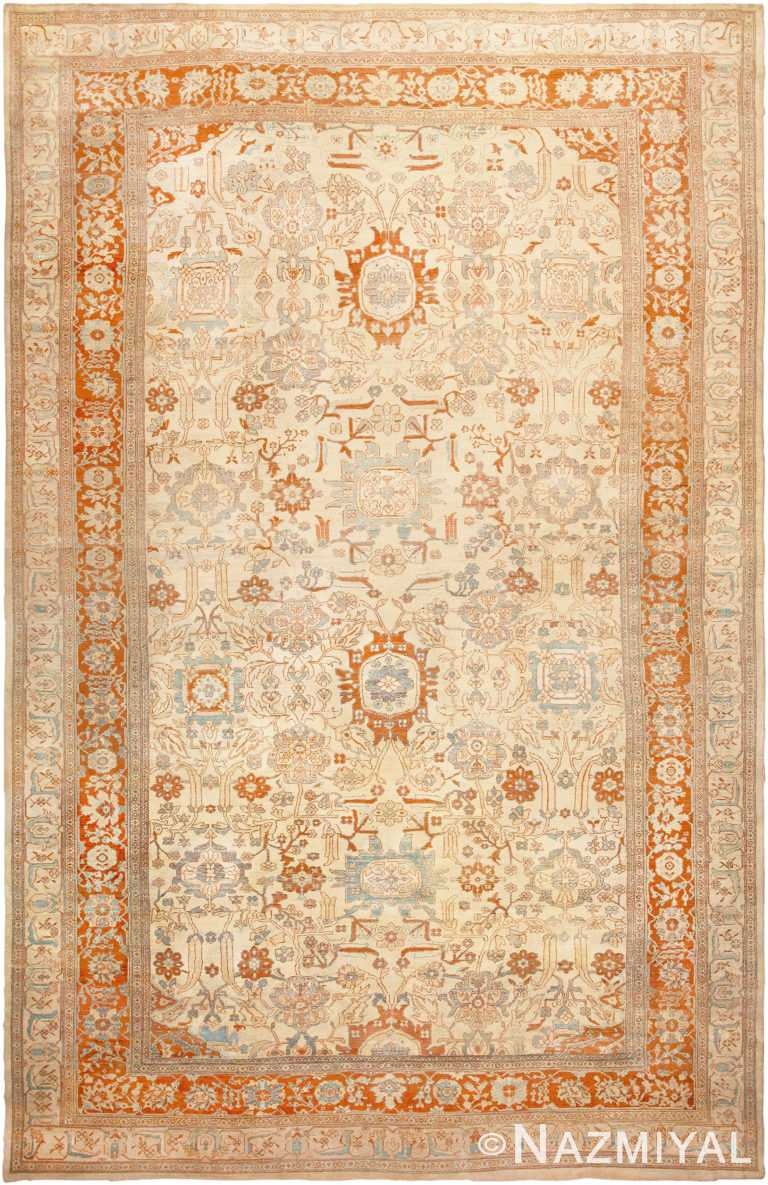 Antique Ziegler Sultanabad Rug 46452 by Nazmiyal Antique Rugs