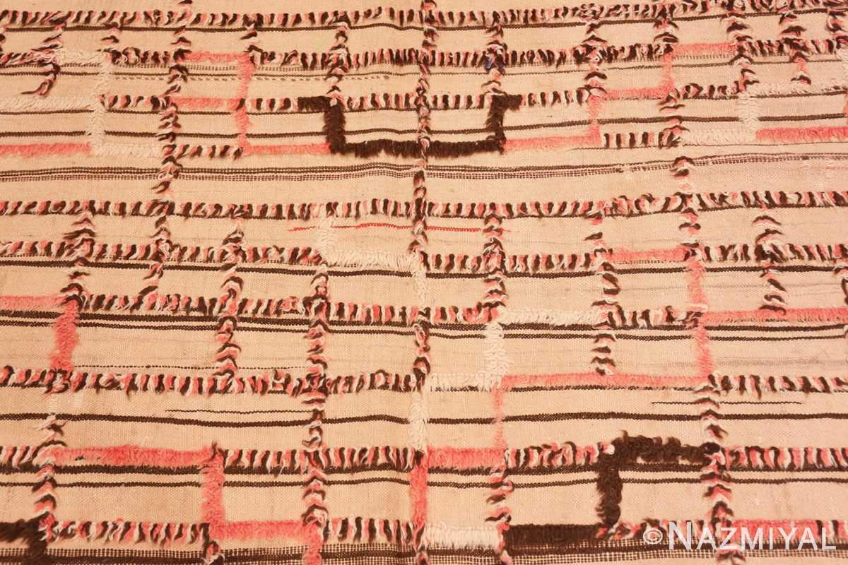 Background long and Narrow Vintage Kilim Moroccan rug 46513 by Nazmiyal