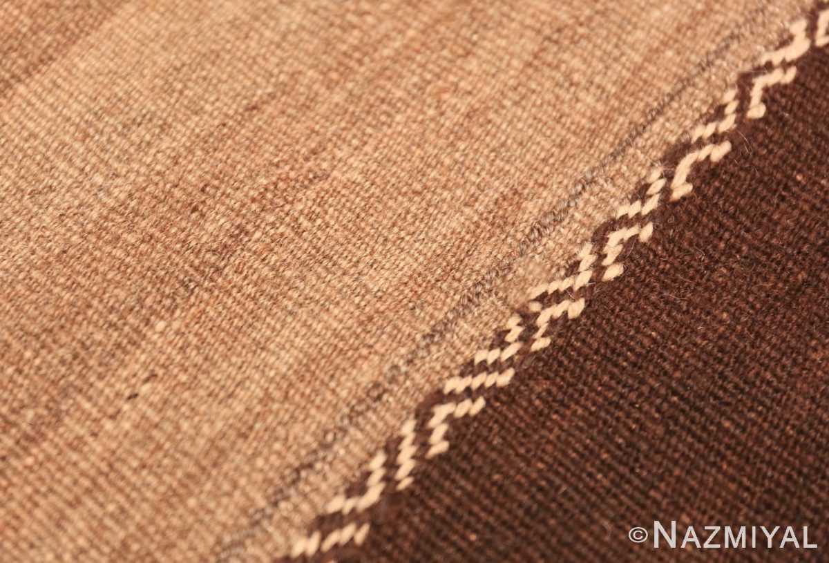 Close-up Mid century Moroccan Kilim 46442 by Nazmiyal