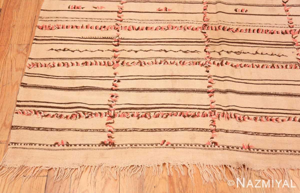 Corner long and Narrow Vintage Kilim Moroccan rug 46513 by Nazmiyal
