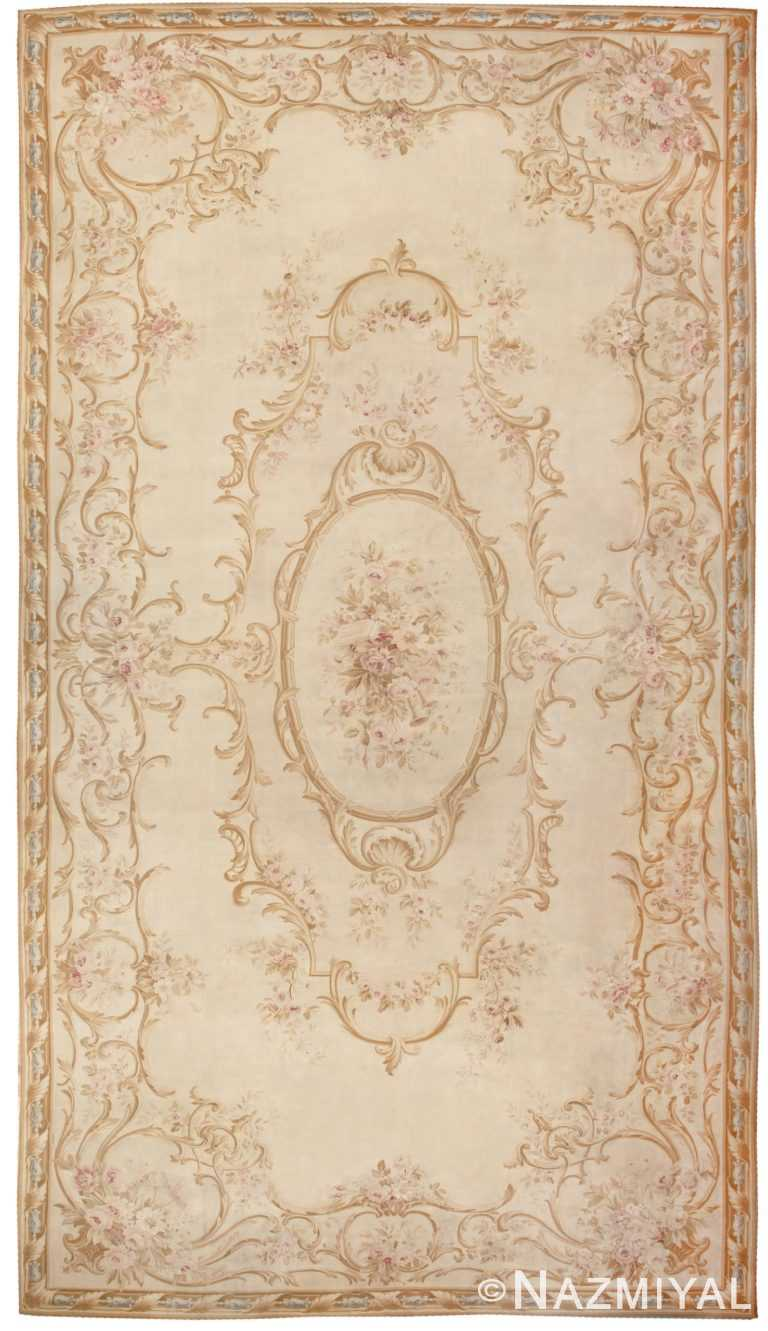 Antique French Aubusson Carpet 46451 Detail/Large View