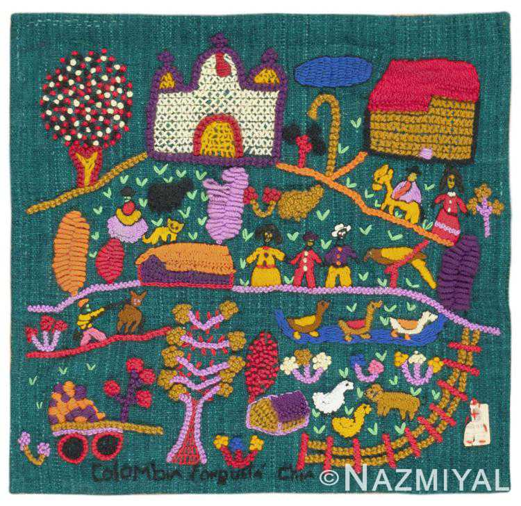 Vintage Colombian Embroidery 46453 by Nazmiyal