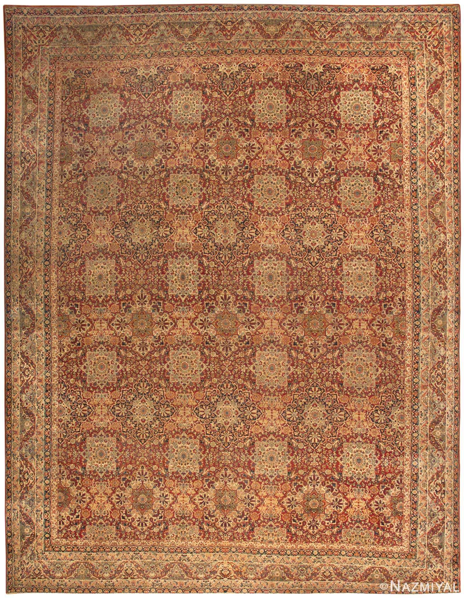 Antique Persian Kerman Rug 46482 Detail/Large View
