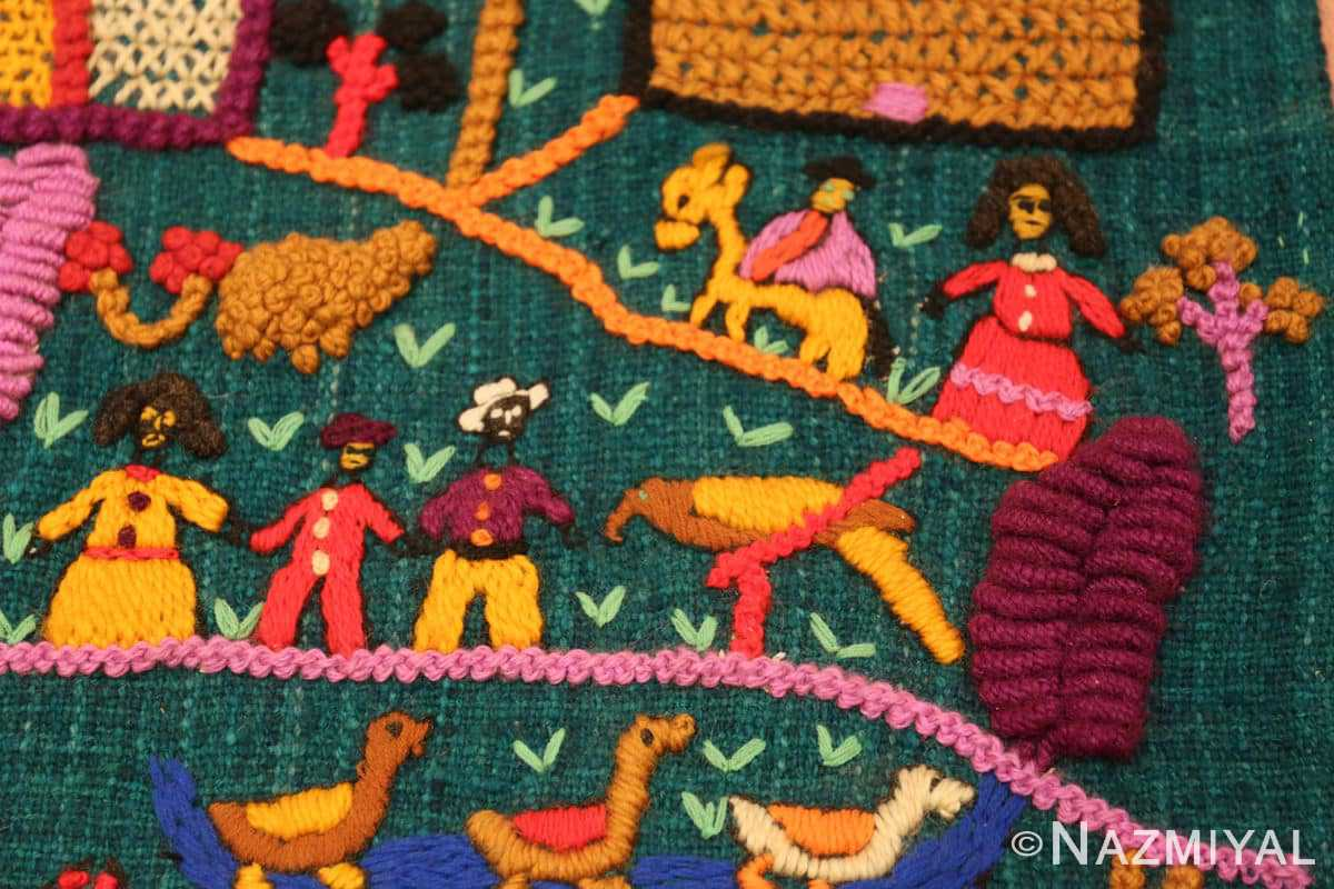 Detail Vintage Colombian embroidery 46453 by Nazmiyal