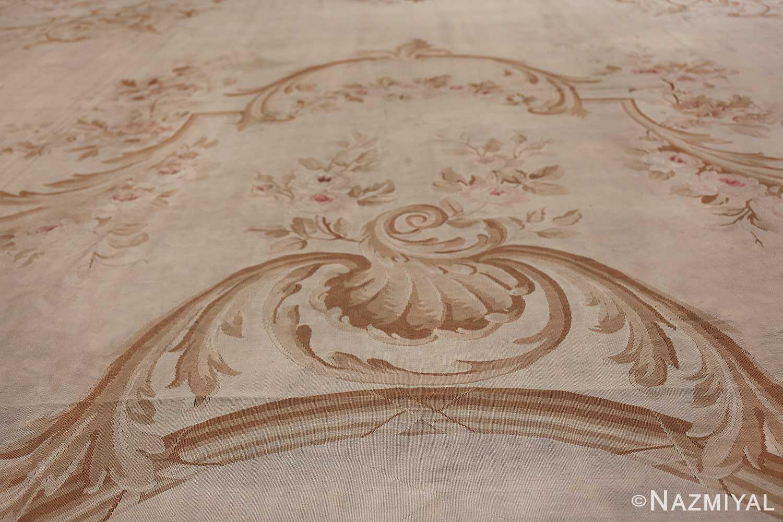 Large oversized ivory French Aubusson antique rug 46451 top Nazmiyal