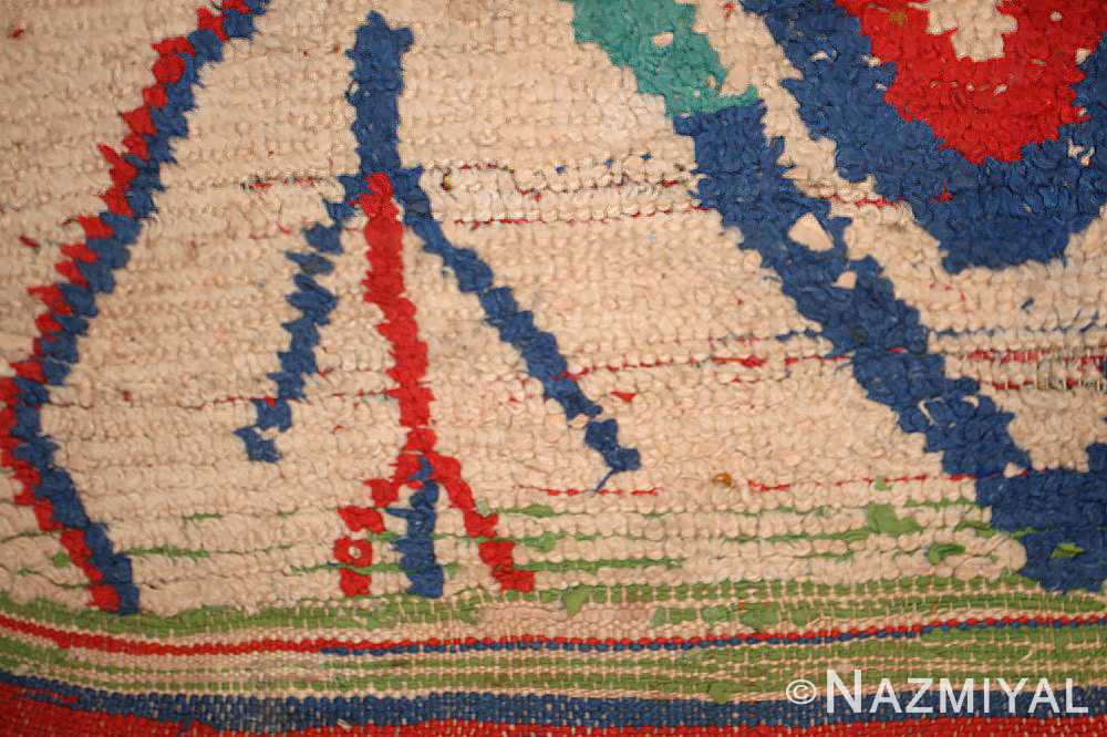 mid century colorful vintage moroccan rug 46515 border Nazmiyal