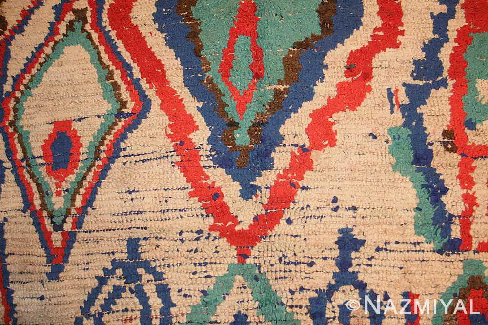 mid century colorful vintage moroccan rug 46515 field Nazmiyal