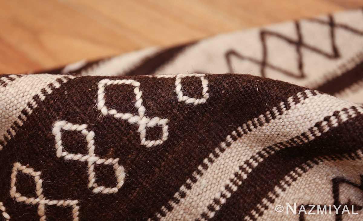 north african vintage moroccan kilim rug 46478 pile Nazmiyal