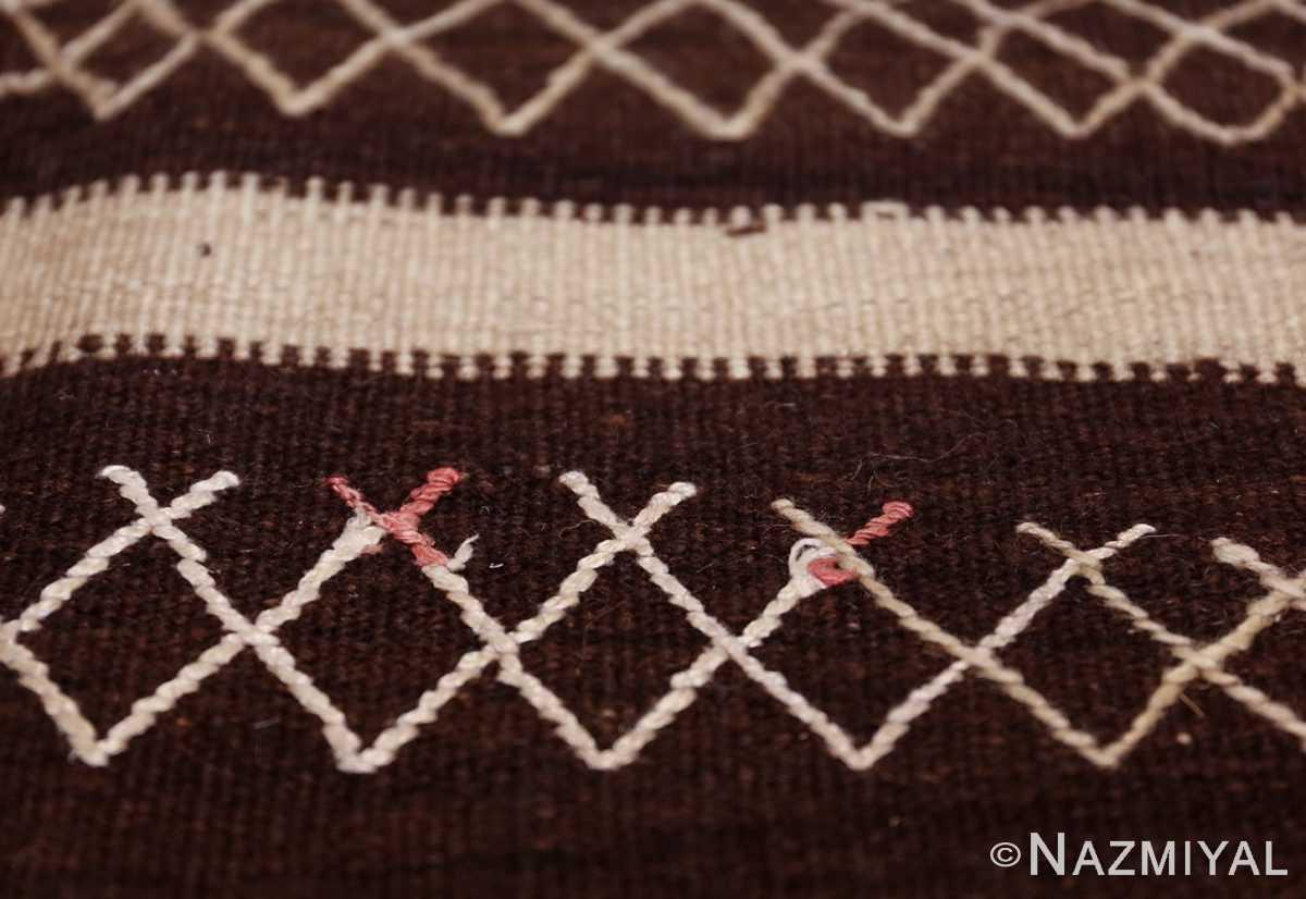 north african vintage moroccan kilim rug 46478 red lines Nazmiyal