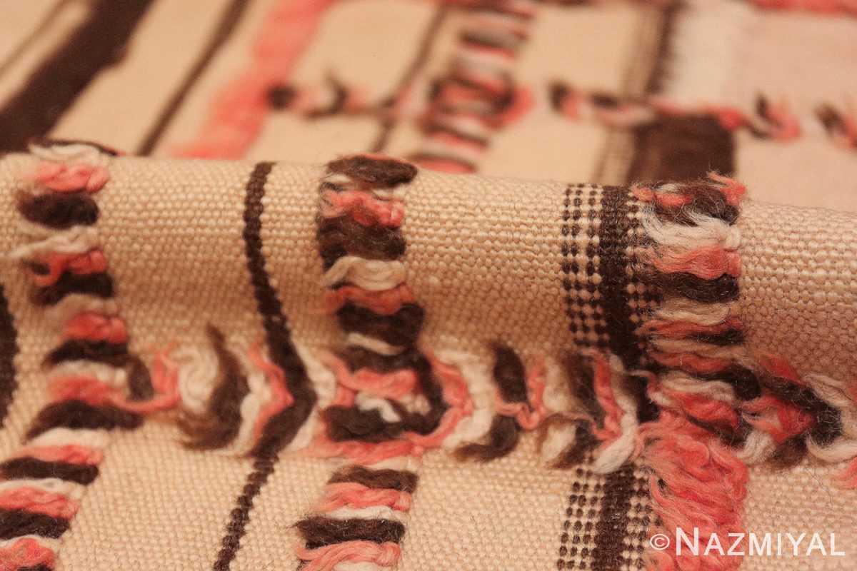 Pile long and Narrow Vintage Kilim Moroccan rug 46513 by Nazmiyal
